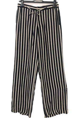 UTERQUE Multicolour Silk Trousers