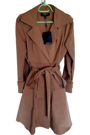 Paule Ka Camel Cotton Trench Coats