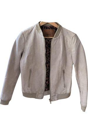 GOOSECRAFT Grey Suede Leather Jackets