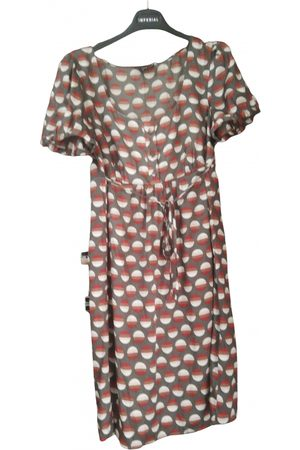PROJECT FOCE Burgundy Polyester Dresses