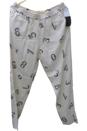 Chloé Ecru Viscose Trousers