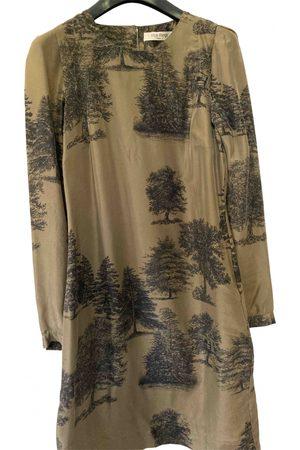 Nice Things Khaki Silk Dresses