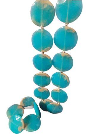 Stefanel Turquoise Plastic Jewellery Sets