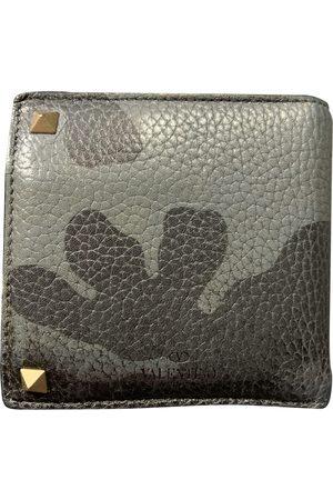 VALENTINO GARAVANI Grey Leather Small Bags, Wallets & Cases
