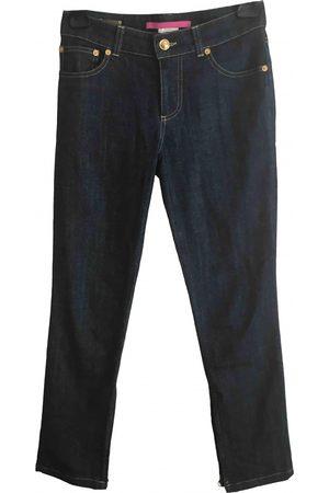 Emanuel Ungaro Navy Cotton Jeans