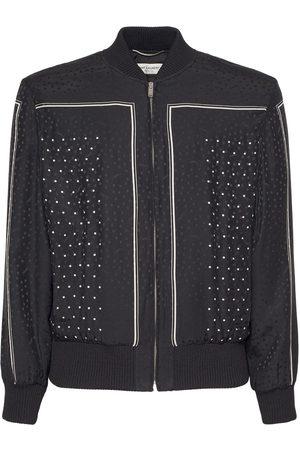 Saint Laurent Teddy Carre Foulard Silk Jacket