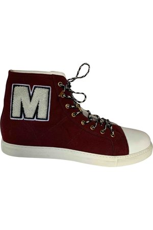 Marc Jacobs Burgundy Cloth Trainers