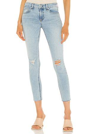 RAG&BONE Cate Mid Rise Ankle Skinny Jean in Blue.