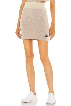 Nike NSW Air Rib Skirt in Neutral.