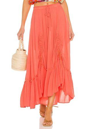 Free People X REVOLVE El Sol Maxi Convertible Skirt in Rose.
