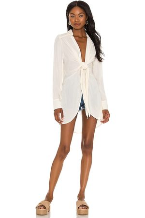 Free People Worlds Apart Tunic in Ivory.