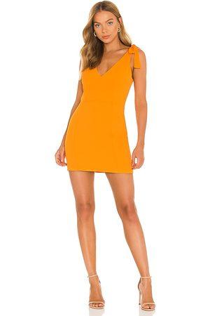 Amanda Uprichard Allora Dress in Orange.