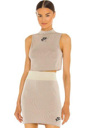 Nike Women Sports T-shirts - NSW Air Rib Tank in Neutral.
