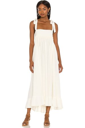 Free People X REVOLVE Gretchen Pinafore Convertible Dress in Ivory.