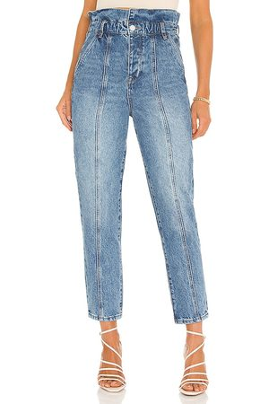 BLANK NYC Paper Bag Pant in Blue.