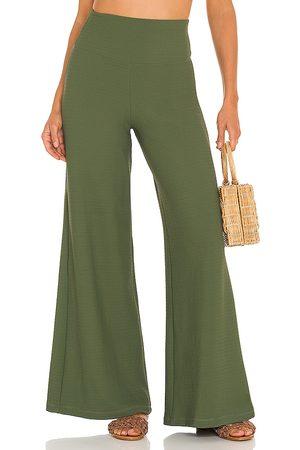 Montce Women Wide Leg Pants - Wide Leg Pant in Olive.