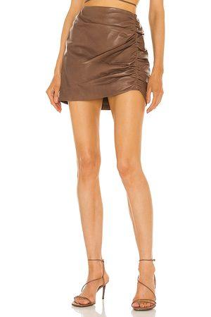 LaMarque X REVOLVE Aricia Skirt in Chocolate.