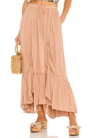 Free People X REVOLVE El Sol Maxi Convertible Skirt in Beige.