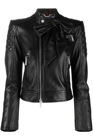 Dsquared2 Bow-embellished biker jacket