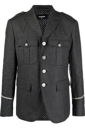 Dsquared2 Men Blazers - Flap-pocket military jacket - Grey