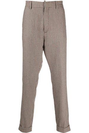 Dsquared2 Check straight-leg trousers - Neutrals