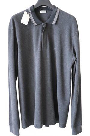 Dior Men Polo Shirts - Anthracite Cotton Polo Shirts