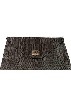 Jimmy Choo Grey Leather Clutch Bags