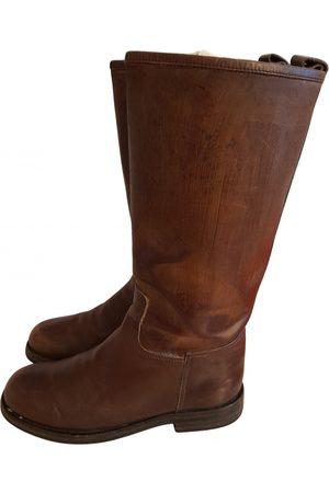 Hermès Leather western boots