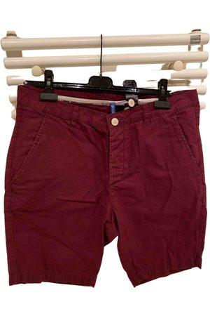 H&M Burgundy Cotton Shorts