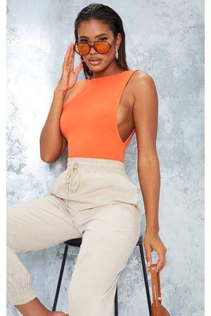PRETTYLITTLETHING Women Lingerie Bodies - Hot Crepe Side Boob Thong Bodysuit