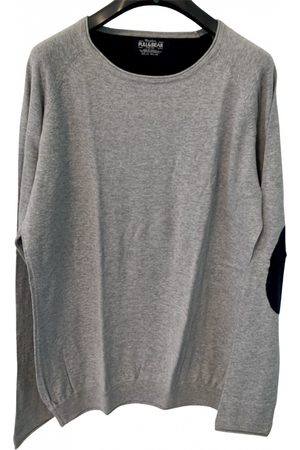 Pull&Bear Men Sweatshirts - Grey Cotton Knitwear & Sweatshirt