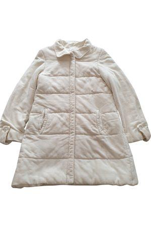 EMMANUELLE KHANH Women Coats - Ecru Synthetic Coats