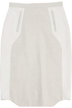 EUDON CHOI Ecru Linen Skirts