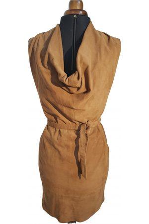 GOOSECRAFT Camel Suede Dresses