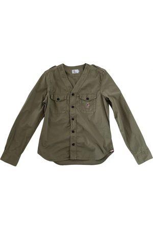 Moncler Khaki Cotton Shirts