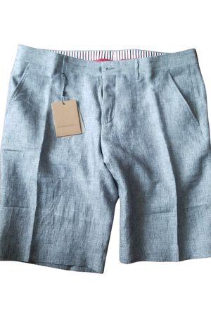 corneliani Anthracite Linen Shorts