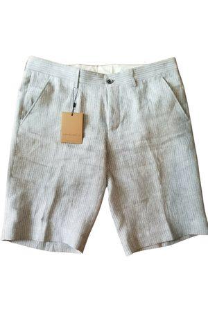 corneliani Grey Linen Shorts