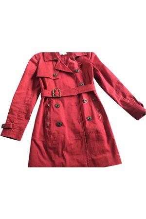 Kenzo Burgundy Cotton Trench Coats