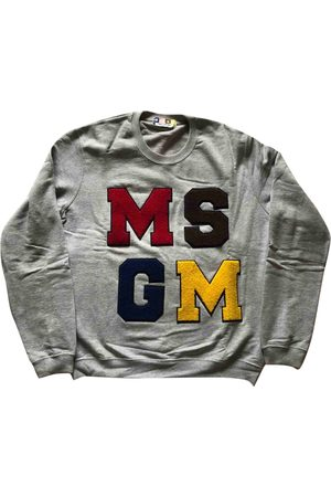 Msgm Grey Cotton Knitwear & Sweatshirts