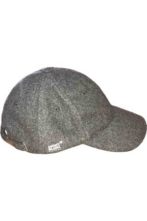 Mont Blanc Men Hats - Grey Synthetic Hats & Pull ON Hats