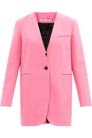 MM6 MAISON MARGIELA Single-breasted Raw-edged Suit Jacket - Womens