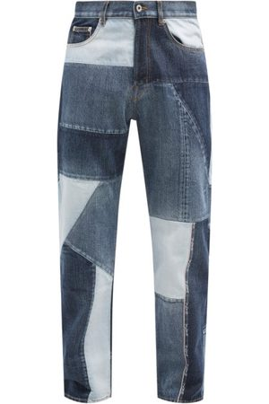 VALENTINO Patchwork Relaxed-leg Jeans - Mens