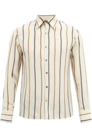 73 London Kilim Stripe-jacquard Silk-crepe Shirt - Mens - Multi