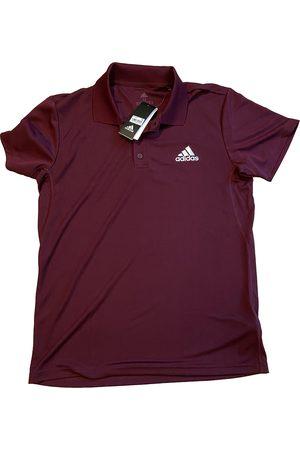 adidas Burgundy Polyester Polo Shirts