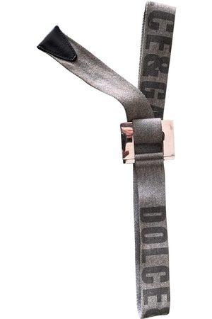 Dolce & Gabbana Grey Cloth Belts