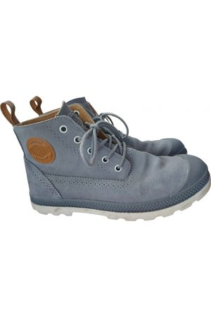 Palladium Women Ankle Boots - Grey Leather Ankle Boots