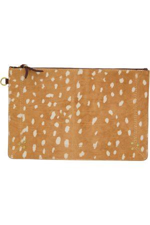 JÉRÔME DREYFUSS Women Clutches - Camel Leather Clutch Bags