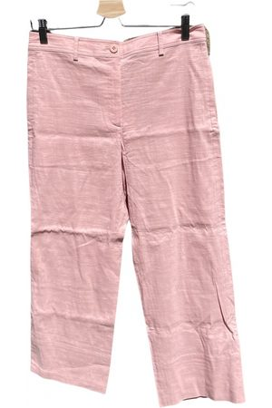 THEORY Linen straight pants