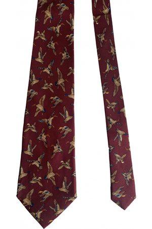 Salvatore Ferragamo Burgundy Silk Ties