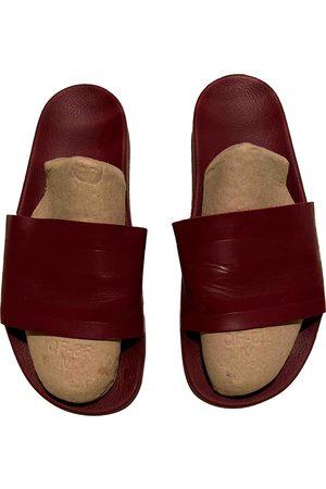 adidas Burgundy Rubber Sandals